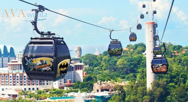tour singapore, wisata murah ke singapore, liburan murah ke singapore, mount faber singapore, cable car pulau sentosa