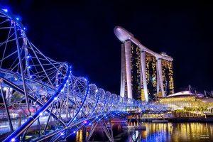 Helix Bridge Singapore, tour singapore, wisata singapore