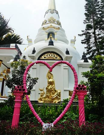 Vihara Vippasana Bandung Seperti Bangunan di Thailand, tour bandung, wisata bandung