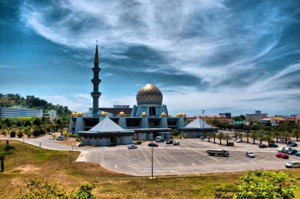 masjid negeri sabah, wisata ke negeri sabah malaysia, wisata kinabalu malaysia
