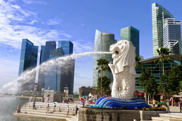 merlion park, tour singapore, wisata singapore murah